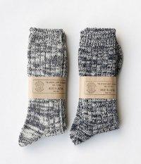 THE SUPERIOR LABOR Indigo Melange Socks