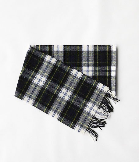 HIGHTLAND TWEED TARTAN SCARF [DRESS GORDON]