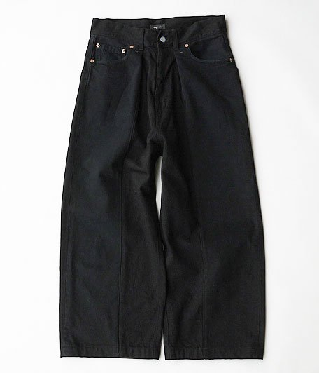 HURRAY HURRAY Remake Baggy Denim Pants [BLACK]