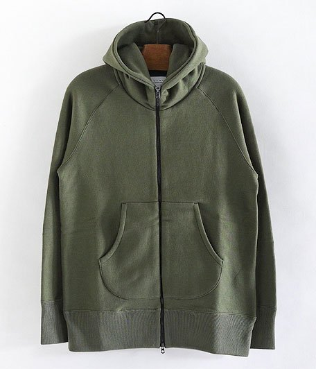 CURLY BRIGHT ZIP PARKA [OLIVE]