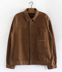 ANACHRONORM Cotton Herringbone Jacket [HAVANA BROWN]