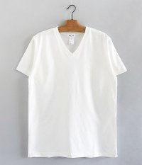 BETTER V  NECK S/S T-SHIRT [OFF WHITE]