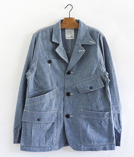 H.UNIT STORE LABEL Chambray Hands-Free Jacket [INDIGO]