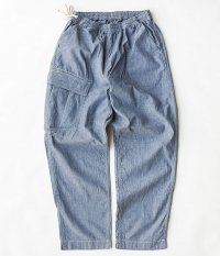 H.UNIT STORE LABEL Chambray Easy Pants [INDIGO]