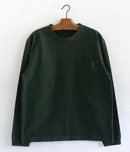 ANACHRONORM Standard Heavy Weight Pocket L/S T-shirt [F.GREEN]