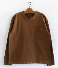 ANACHRONORM Standard Heavy Weight Pocket L/S T-shirt [H.BROWN]