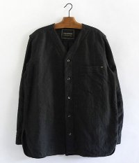 ANACHRONORM Linen Shirt-Cardigan [INK BLACK]