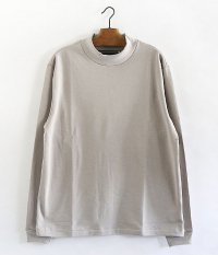 ANACHRONORM Cotton Fleece Highneck Tee [GRAY BEIGE]