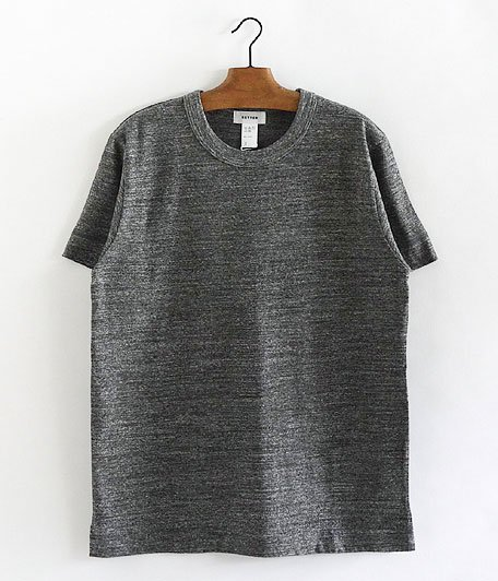 BETTER MID WEIGHT CREW NECK S/S T-SHIRT [CHARCOAL MELANGE]