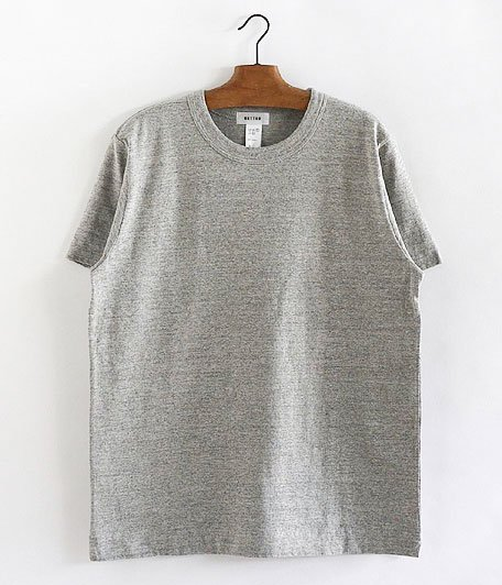 BETTER MID WEIGHT CREW NECK S/S T-SHIRT [GRAY MELANGE]