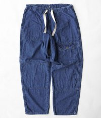 ANACHRONORM Washed Denim Easy Pants [INDIGO]