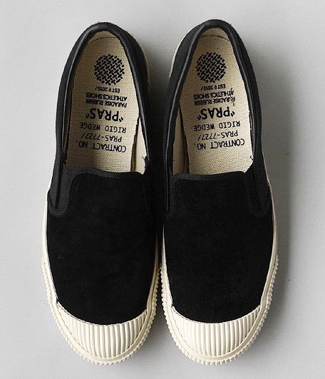 ANACHRONORM Shellcap Slip-On by PRAS [BLACK / OFF WHITE SOLE]