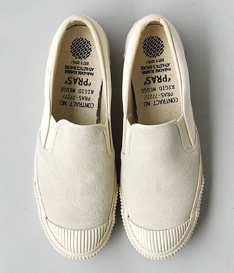ANACHRONORM Shellcap Slip-On by PRAS [OFF WHITE / OFF WHITE SOLE]