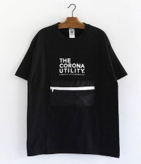 CORONA PACKABLE POCKET TEE [BLACK BODY × BLACK POCKET]