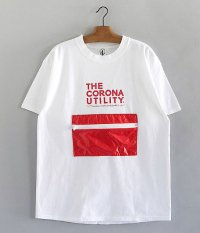 CORONA PACKABLE POCKET TEE [WHITE BODY × RED POCKET]
