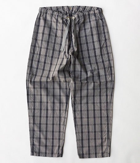 ANACHRONORM Cotton Check Easy Pants [GRAY CHECK]