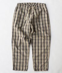 ANACHRONORM Cotton Check Easy Pants [BEIGE CHECK]