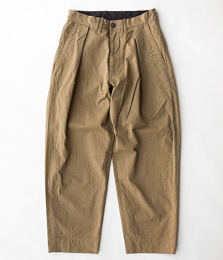 ANACHRONORM Chino Tuck Trousers [BEIGE]