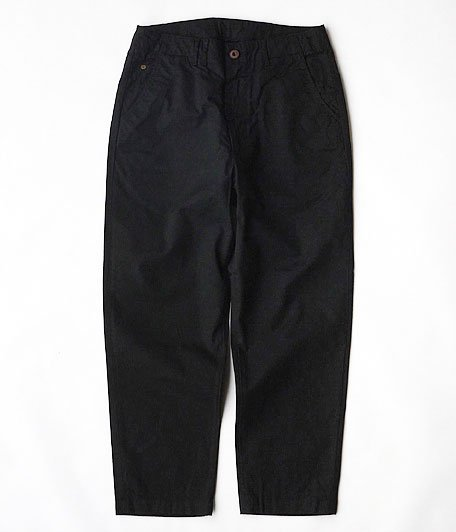 ANACHRONORM Chino Twill Tapered Trousers [BLACK]