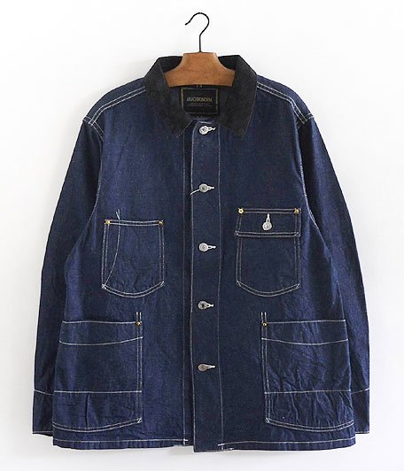 ANACHRONORM Rinsed Denim Rail Road Jacket [INDIGO]