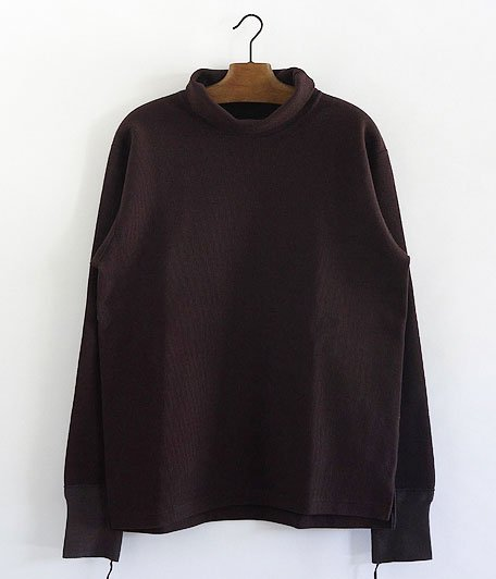ANACHRONORM Waffle Face Hi-Neck Under-Shirt [Dk.BROWN]