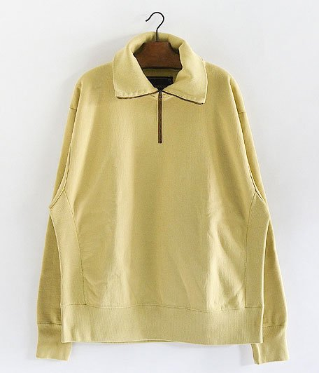 ANACHRONORM Half Zip Sweatshirt [YELLOW]