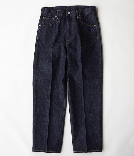 H.UNIT STORE LABEL Indigo Denim Tuck 5P Washed [INDIGO]