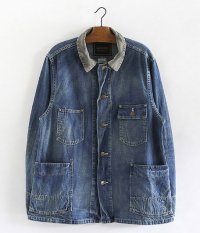 ANACHRONORM Washed Denim Rail Road Jacket [INDIGO]
