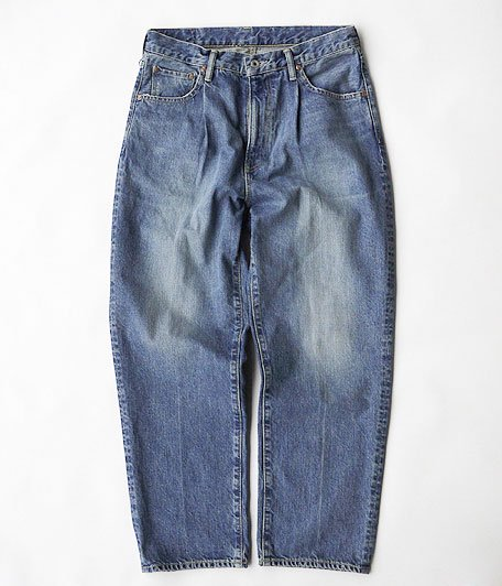 H.UNIT STORE LABEL Indigo Denim Tuck 5P Real Wash [INDIGO]