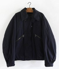 ANACHRONORM Indigo Typewriter Flight Jacket [BLACK NAVY]