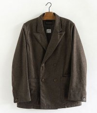 ANACHRONORM Wool Flannel Lapel Jacket [BROWN]
