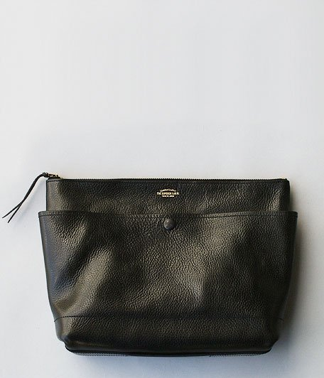 THE SUPERIOR LABOR BLACK for RADICAL Leather Clutch Bag L [BLACK]