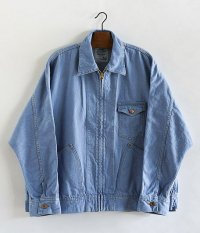 H.UNIT STORE LABEL Denim Dolman Zip Work Jacket [SAX]
