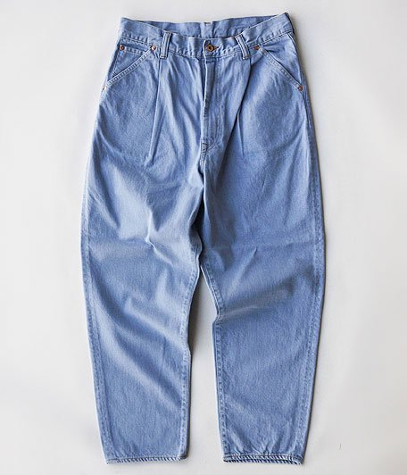 H.UNIT STORE LABEL Denim Duck Wide Tapered 4p [SAX]