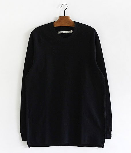CURLY FOLKSY LS TEE [BLACK]