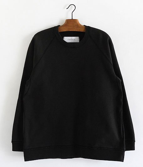 CURLY FROSTED CREW SWEAT [BLACK]