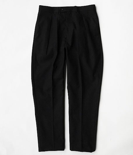 NEAT HOPSACK / TAPERED [BLACK]