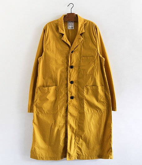 H.UNIT STORE LABEL Broadcloth Long Atelier Coat [MUSTARD]