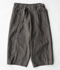 KAPTAIN SUNSHINE Naval Wrap Trousers [CHARCOAL GRAY]