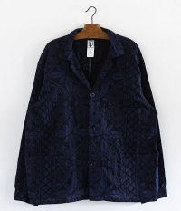 CORONA PATERSON'S JAC SHIRT [NAVY × STEEL BLUE]