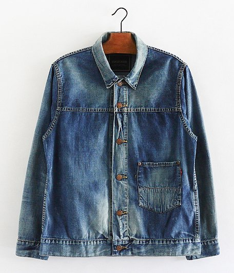 ANACHRONORM 8oz Denim Trucker Jacket [INDIGO / AGING WASH]