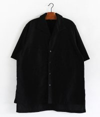KAPTAIN SUNSHINE Italian Collar Safari Shirt [INK BLACK]