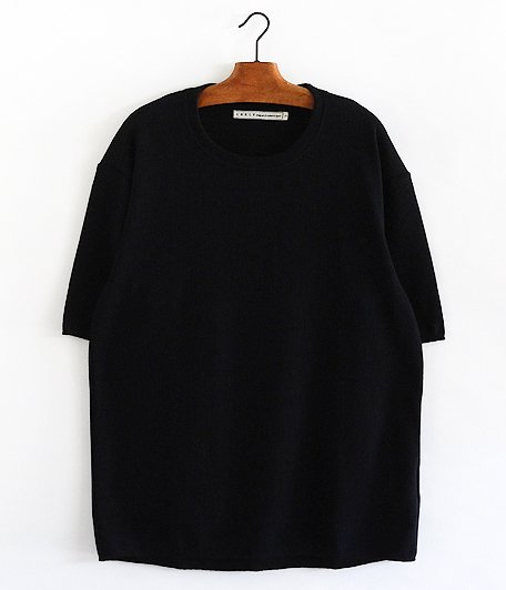 CURLY Cloudy HS Crew Tee [BLACK]