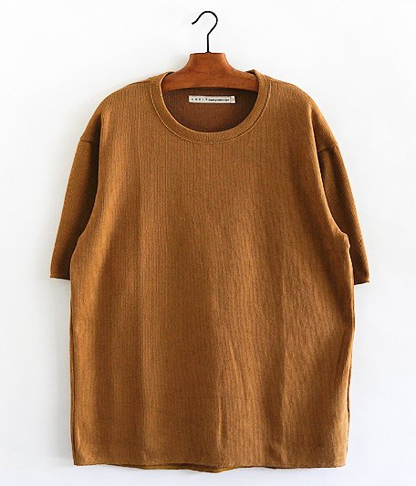 CURLY Cloudy HS Crew Tee [CAMEL]