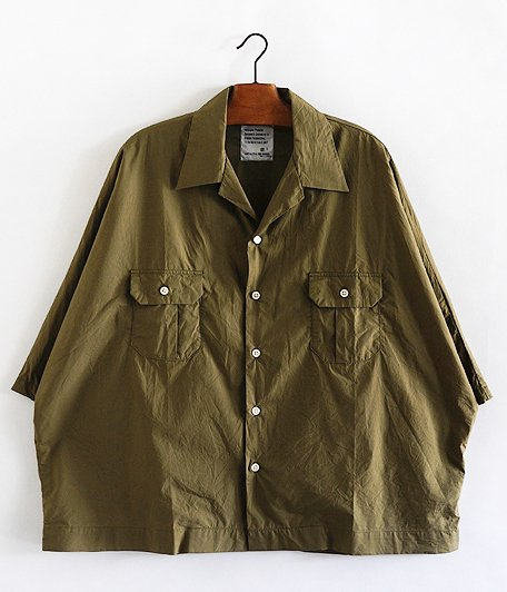 H.UNIT STORE LABEL Dolman Open Collar Short Sleeve Shirt [KHAKI]