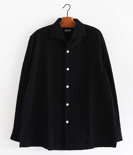 SOWBOW 蒼氓シャツ / ONE PEACE COLLAR [BLACK]