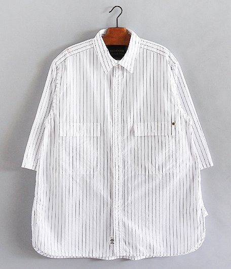 ANACHRONORM Ring Snap 1/2 Sleeve Shirt [WHITE]