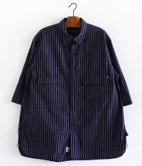 ANACHRONORM Ring Snap 1/2 Sleeve Shirt [NAVY]