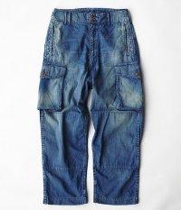 ANACHRONORM 8oz Denim Combat Pants [INDIGO / AGING WASH]