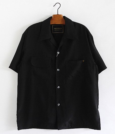 ANACHRONORM Rayon Open Collar Shirt [BLACK]